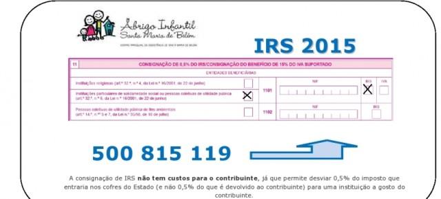 Ajude o Abrigo Infantil através do seu IRS!